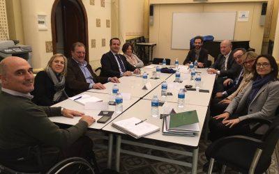 El Sr. Ignacio Tremiño, Director General de Políticas de Apoyo a la Discapacidad, alaba la labor y el equipo humano de la fundación durante su visita