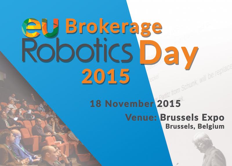 Participamos en el euRobotics Brokerage Day 2015